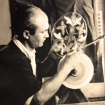 1936: Vellychko Petrov at his glass art studio