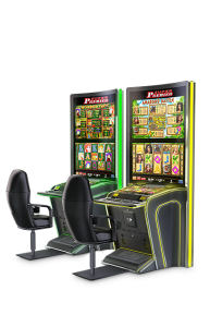 curved glass touch display gaming cabinets