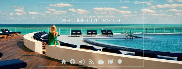 welcome hotel interactive digital signage