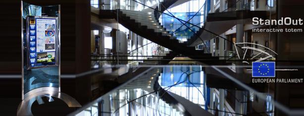 StandOut touch totem European Parliament