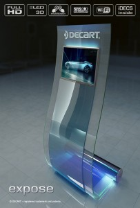 Interactive digital signage touch kiosk EXPOSE
