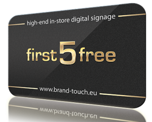 first five free digital signage