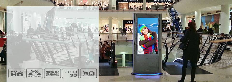 Instore digital totem ZilverSlate